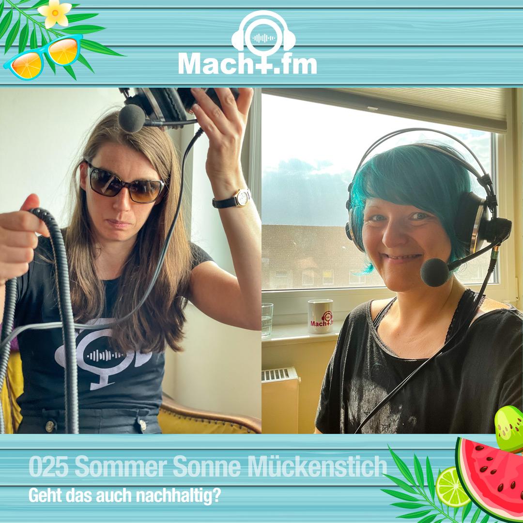 Dr.in Macht mit Sonnenbrille, Hiwi mit Headset