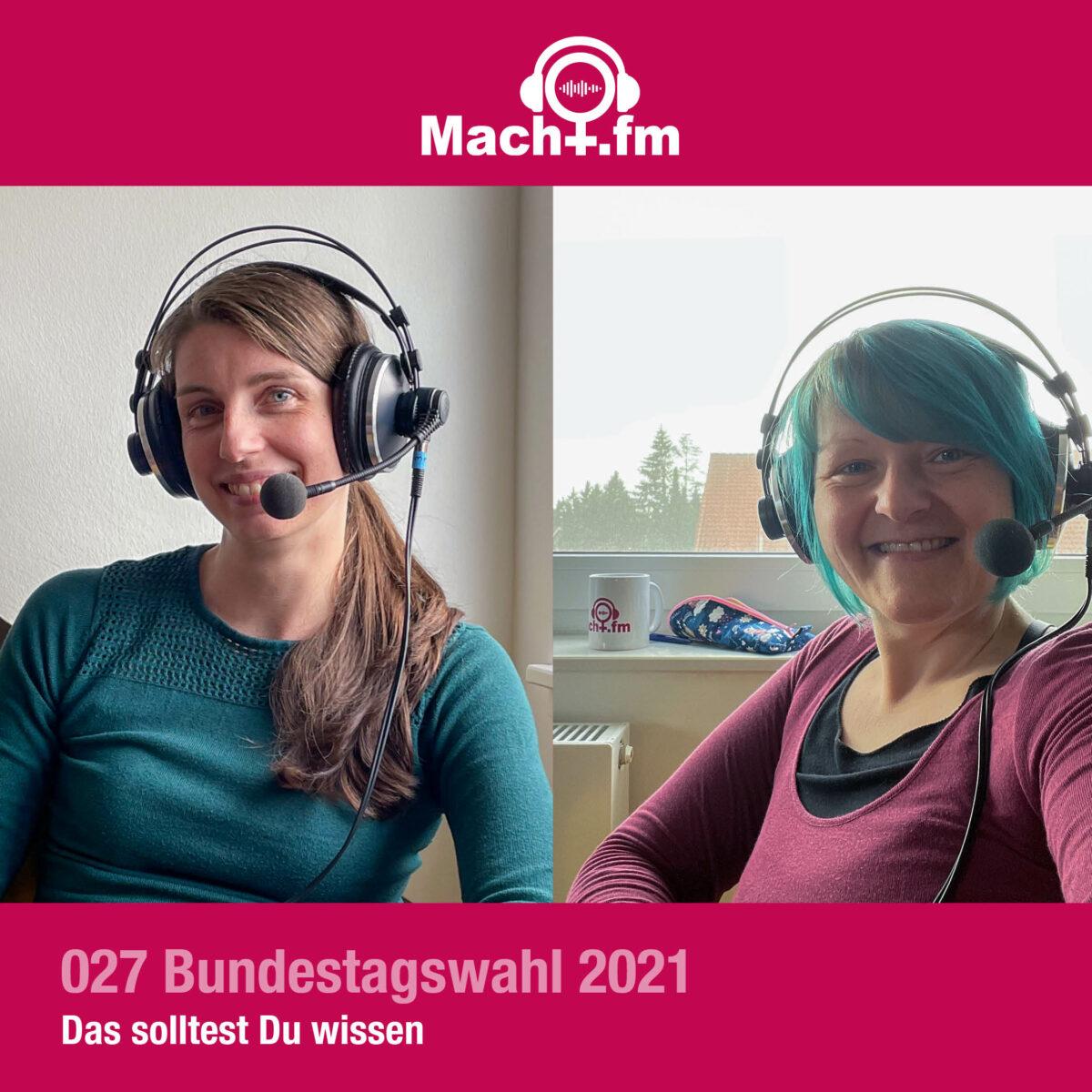 Dr.in Macht und Hiwi Aline beim Podcasten